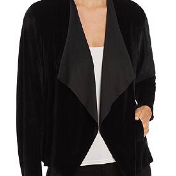 Alison Andrews Jackets & Blazers - Alison Andrews Womens Velvet Drape Front Jacket